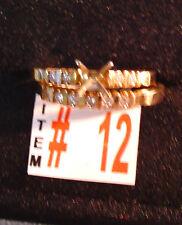 Item 12 14K  Gold & .21 ct Total Diamonds Engagement Ring, Wedding Band Set, NEW