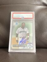 Kyle Lewis Signed 2017 Bowman Chrome Card Psa/Dna Slabbed ~ Seattle Mariners ROY