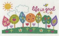 """DMC Counted Cross Stitch Kit """"Life is Good"""""""