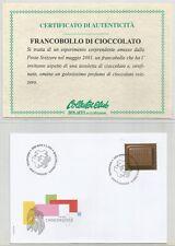 """SVIZZERA - 2001 """"Chocosuisse"""" francobollo singolo su busta primo giorno"""