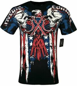 XTREME COUTURE by AFFLICTION Men T-Shirt COUTURE PATRIOT Tatto Biker MMA S-4X