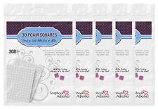 "5 of 3L Scrapbook Adhesives 3D Foam Squares White Self-Adhesive 1/4""x1/4"" 308 ea"