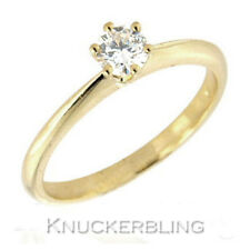 18 Carat Yellow Gold Solitaire Engagement Fine Diamond Rings