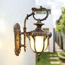 Retro Rustic Exterior Wall Mount Light Fixture Outdoor Lantern Sconce Bronze Usa