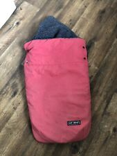 Out n About Buggy Snuggle Footmuff Red and grey