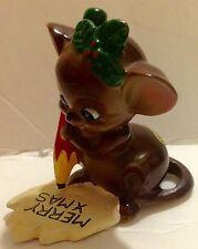Josef Originals Ceramic Christmas Merry Xmas Mouse Figurine