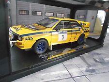 AUDI Quattro Rallye Gr.B 555 Hongkong Peking 1985 #1 Mikkola Hertz Sunstar 1:18
