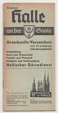 Prospekt Halle an der Saale Unterkunfts Verzeichnis 1937 ! (H2