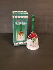 Giftco Inc. Christmas Porcelain Dinner Bell Holiday Decoration (m919P)
