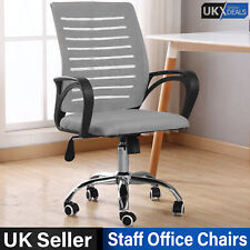 PC Computer Desk Office Mesh Chair Adjustable Tilt Executive Swivel Fabric Seat