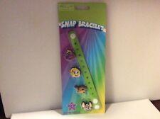 Chuck E Cheese's Snap Bracelet NEW In Package W/ Chuck E Helen Jasper & Munch