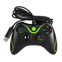 USB Wired Game Controller for Microsoft Xbox 360 Xbox 360 Slim (Black+Green L&6