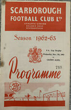 More details for scarborough v crewe alexandra fa cup 1st round replay 1962/63