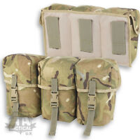 MTP MULTICAM PLCE TRIPLE WATER BOTTLE POUCH QR BUCKLE WEBBING BRITISH ARMY