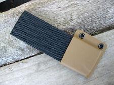 Valhalla Custom Kydex Nylon Belt Loop COYOTE BROWN and BLACK