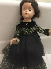 "Vintage Madame Alexander Little Women Marme 14"" Hard Plastic Doll 1950s"