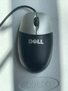 DELL USB 2.0 Optical Scroll Mouse Black and Silver S/N HCP61128282