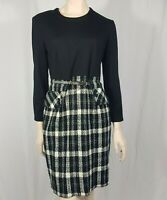 Joseph Ribkoff Black Cream Check Dress Belted Smart Career Wear Size UK 14