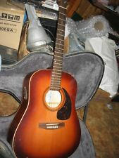 SEAGULL HAND MADE IN QUEBEC S6 TOBACCO BURST ACOUSTIC ELECTRIC GUITAR WITH CASE