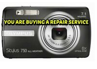 OLYMPUS Stylus 750 or 760 REPAIR SERVICE for your DIGITAL CAMERA-60 DAY WARRANTY