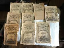 LOT OF 9 PETERSON'S LADIES NATIONAL MAGAZINE VICTORIAN 1869, 1870, 1872, 1873,