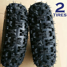 TWO 4.10-6 Snow Blower thrower TIREs Americana 410-6 4.10x6 410x6 A398 Snow Pro