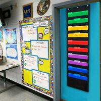 10 Storage Pocket Holder Wall File Organizer Door Hanging Paper Office Classroom