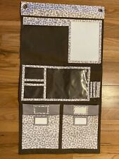 """Thirty-One Hang-Up-Home Organizer Brown & White 41"""" x 22"""""""