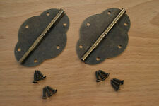 ANTIQUE BRONZE DECORATIVE BOX HINGES (pair) - PROKRAFT PKR ABH12