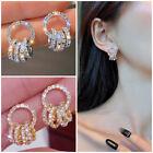 925 Silver,Gold Engagement Drop Earrings Creative Cubic Zirconia Women Jewelry