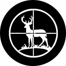 Deer Hunter Scope Jeep Wrangler Liberty RV Trailer Camper Spare Tire Cover