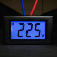 AC 80-500V LCD Display Digital Voltmeter Volt Panel Meter Voltage Gauge 2 Wires