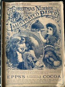 Christmas Number PENNY ILLUSTRATED PAPER 1889 Maurice Greiffenhagen ADVERTS