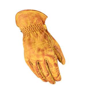 Herren Lederhandschuhe Cowboy Western gelb Leder Handschuhe Gr. S-2XL