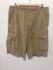 James Perse Standard Cotton Blend Cargo Shorts Mens Size 2 Drawstring I188