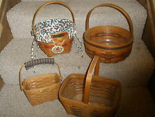 lot of 4 Longaberger baskets Crisco, Christmas, Spring,