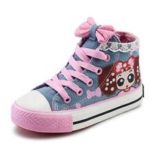 Niños Niñas Zapatos De Lona Zapatos De Diseño De Encaje Moda Tenis Zapatos Escolares Antideslizante