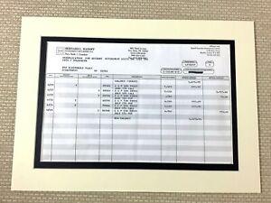 Bernie Madoff Financial Trading Statement Report Fraud Ponzi Scheme Memorabilia