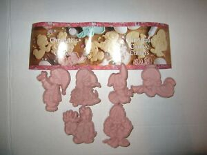 Enesco Precious Moments lot of 6 pink cookie cutters