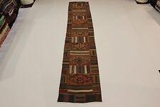 nomades patchwork délavé look antique Tapis de Perse Tapis d'Orient 5,14 x 0,91
