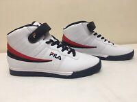 Fila Men's Vulc 13 Sneaker Shoes White Red Navy Blue Size 12