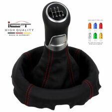 New ICT gear shift knob gaiter boot LED Mazda RX 8 100% leather thread red C44