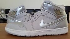 2001 Nike Air Jordan 1 Metallic Silver 136065-001 8.5