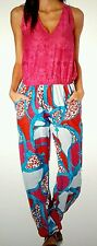 Combinaison pantalon buste rose fushia bas bleu rouge blanc T M soit 38