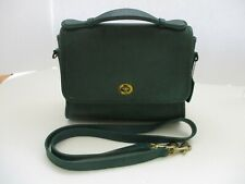 Vintage COACH 9870 Hunter Green Leather COURT Crossbody Purse