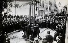 Lámina-ejecución pública en la guillotina Francia 1939 Foto pena de muerte