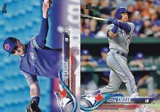 2 Cards - 2018 Topps - Justin Smoak - SP Photo Variation & Base Card #82 - Jays