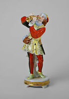 9944300 Porcellana Pierrot Arlecchino Cappella Tromba Kämmer H21cm