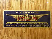 """""""UNION CHEST AND CABINET CORP. EMBLEM"""" for Vintage Machinist Chest"""
