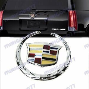 X1 Chrome Cadillac Logo Car Auto Rear Trunk Lid Emblem for Cadillac SRX XTS CTS